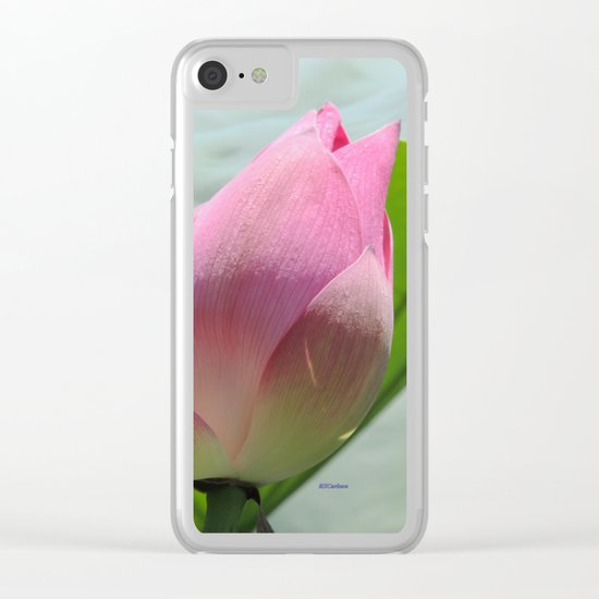 Lotus Bud in West Lake Clear iPhone Case