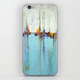"""Abstract White and Blue Painting – Textured Art – """"Sailing""""  iPhone Skin"""