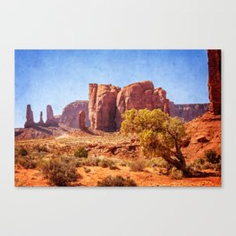 Most Interesting View of Monument Valley Canvas Print
