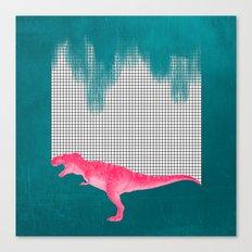 DinoRose - pinky tyrex Canvas Print