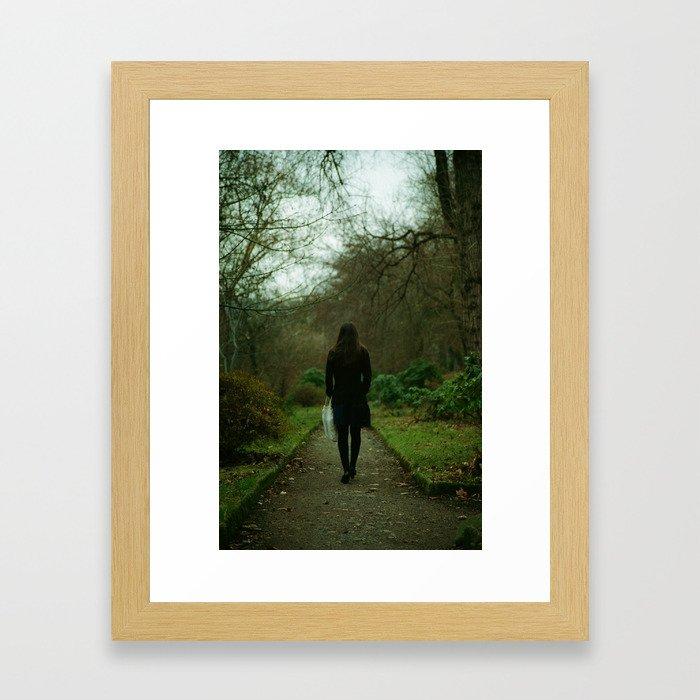 A Walk in a Botanic Garden Framed Art Print