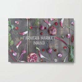 Farmer's Market Bound Metal Print