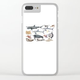 Marine wildlife Clear iPhone Case