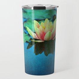 waterlily textures Travel Mug