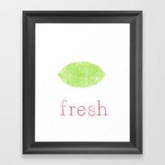 Fresh Lime Framed Art Print
