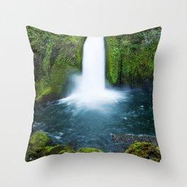Wahclella Falls Throw Pillow