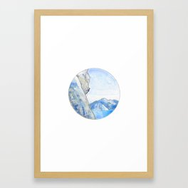 Rock Climbing Framed Art Print