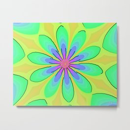 Return to the 70's Psychedelic Metal Print