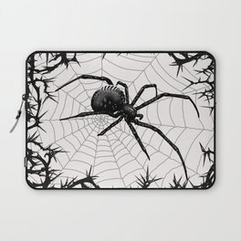 Briar Web- Black and White Laptop Sleeve