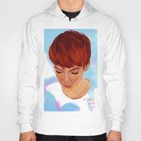 ginger Hoodies featuring Ginger by Adelys