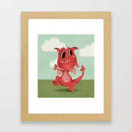 The Scariest Dragon Framed Art Print