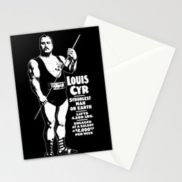 Strongest Man On Earth - Louis Cyr - Strongman Graphic Stationery Cards