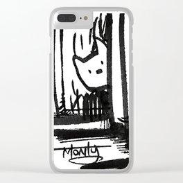 Hidden Kitty Clear iPhone Case
