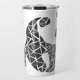 Geometric panda Travel Mug