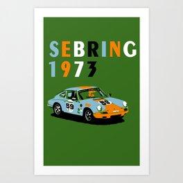 1973 Porsche Carrera RSR At Sebring 12 Hours Art Print