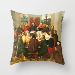 The Last Supper - 15th Century Painting Throw Pillow