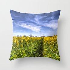 The Summer  English Field Throw Pillow