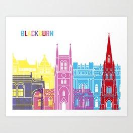Blackburn skyline pop Art Print