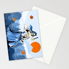 Fall maple leafs and Ukyo Stationery Cards