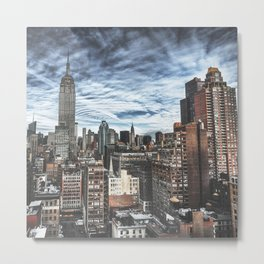 empire state building skyline Metal Print