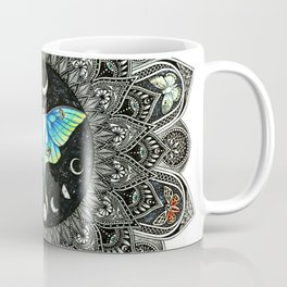 Lunar Moth Mandala Coffee Mug