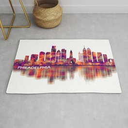 Philadelphia Pennsylvania Skyline Rug