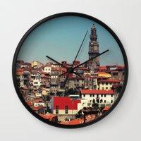 portugal Wall Clocks featuring Porto Portugal by Pilgrim