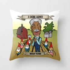 A Gnome Farmer (Morgan Freeman) Throw Pillow