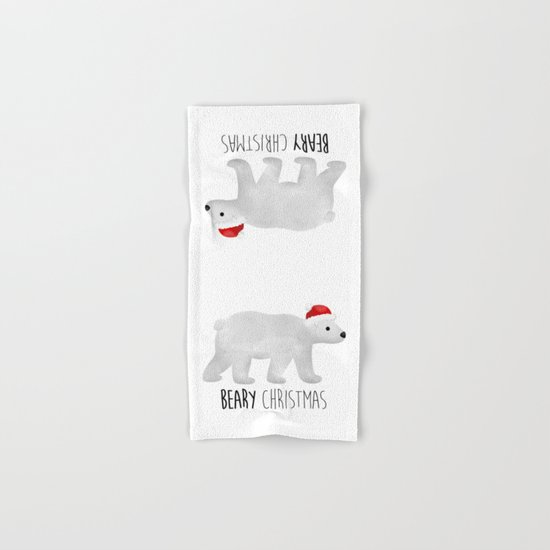 Beary Christmas | Polar Bear Hand & Bath Towel