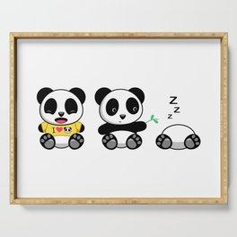 Three Little Pandas Serving Tray