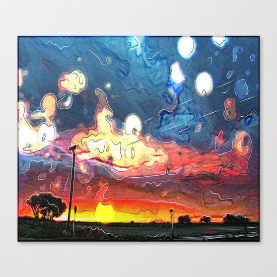 Lost in the rain Canvas Print