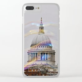St. Paul's behind bubbles. Clear iPhone Case