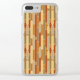 Tabs in Burnt Orange, Rust, Yellow and Tan Clear iPhone Case