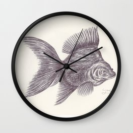 BALLPEN FISH 6 Wall Clock