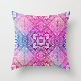 the big pink of 4 diamonds Throw Pillow