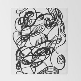 Flowing Lines of Chaos Throw Blanket