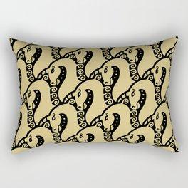 Unicorn Pattern Gold & Black Rectangular Pillow