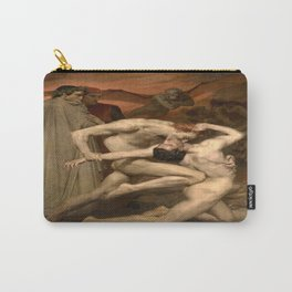 William-Adolphe Bouguereau's Dante and Virgil in Hell Carry-All Pouch