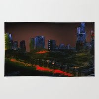 cityscape Area & Throw Rugs featuring Cityscape by Jonas Ericson