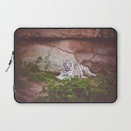 White Bengal Tiger Laptop Sleeve