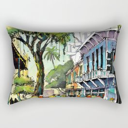 Duval Street, Key West Rectangular Pillow