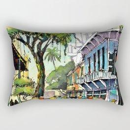 Duval Street, Key West Rectangular Pillow