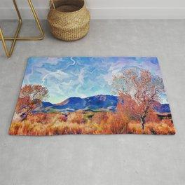Monet's Surreal Southwest Landscape Rug