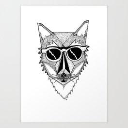 Pop Fox Art Print