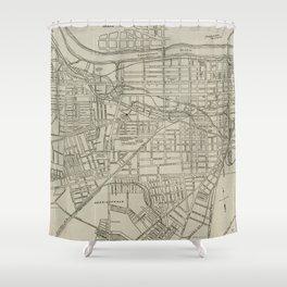 Vintage Map of Augusta GA (1913) Shower Curtain