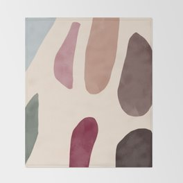 Color Stones Biege Path Throw Blanket