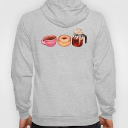 Coffee Donut Percolator Pattern Hoody