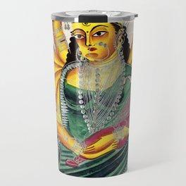 Ganesha-Janani (Mother of Ganesh) - Vintage Indian Art Print Travel Mug