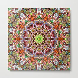 Colorful Kaleidoscope Pattern Metal Print