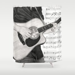 A Few Chords Shower Curtain